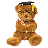 #8: Graduation Plush Bear - Stuffed Animal Teddy Bear with Glasses, Grad Cap, Diploma and Props - Great College Graduation Gift, 10.5 Inches, Brown