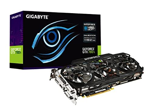 Gigabyte GTX780 Ti GDDR5-3GB 2xDVI/HDMI/DP OC Graphics Card (GV-N78TGHZ-3GD) (Gigabyte Geforce Gtx 780 Ghz)