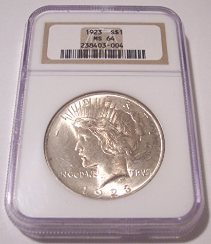 1923 Peace Silver Dollar MS64 NGC