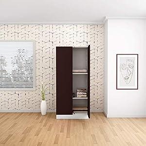 GODREJ INTERIO Slimline 2 Door Steel Almirah with 2 Shelves (Russet)