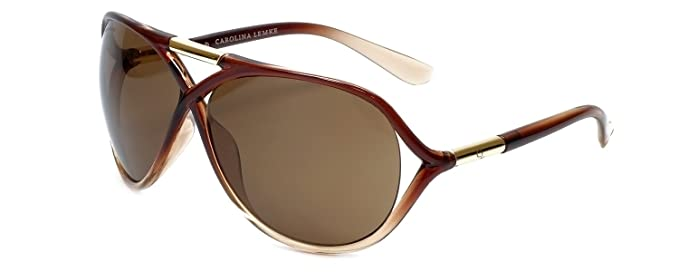 62296063b6 Carolina Lemke Designer Sunglasses CL3007 Brown Fade   Brown UV400 ...