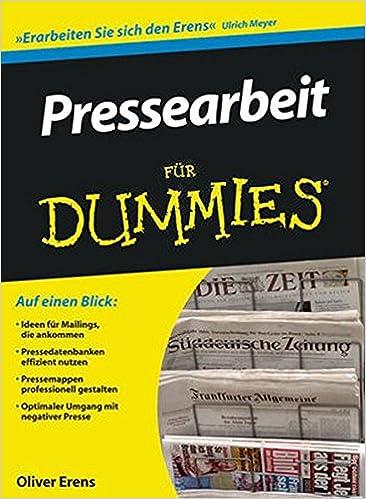 Book Pressearbeit für Dummies (Für Dummies)