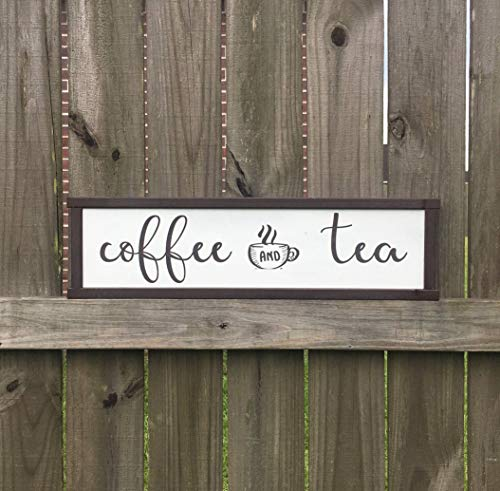 Adonis554Dan Coffee Bar Sign Coffee and Tea Sign Kitchen Decor Coffee Area Tea Coffee Rustic Sign Custom Wood Sign Kitchen Sign Cafe Sign