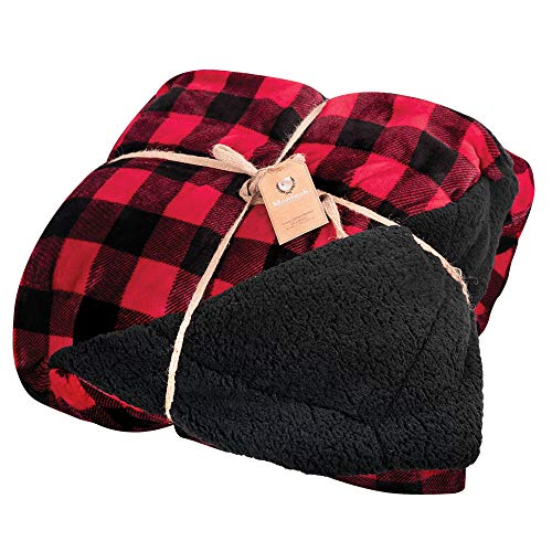 Blanket Berber Fleece (Northpoint Red Buffalo Plaid Blanket - Size King)
