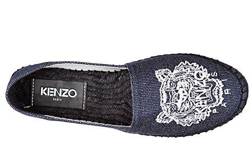 Kenzo Kvinners Bomull Espadrilles Aurlandssko Tiger Blu