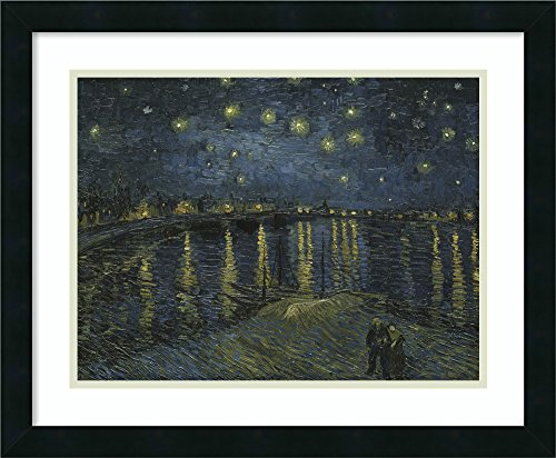 Framed Art Print 'Starlight Over the Rhone' by Vincent van Gogh