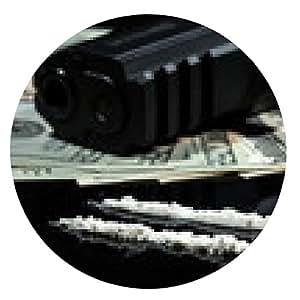 alfombrilla de ratón Las drogas ilegales, dinero y armas de fuego - ronda - 20cm