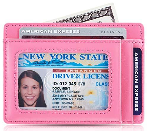 Kalmore Credit Card Holder Genuine Leather Slim & Thin Pocket Wallet Minimalist Wallet Money Clip RFID Blocking by KALMORE (Image #2)