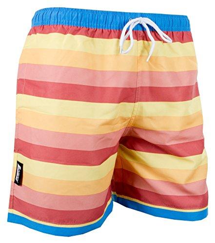 LUVANNI Herren Badeshorts Beachshorts Boardshorts Badehose gestreift Farbe Bunt XXL