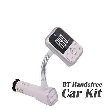EINCAR Transmisor FM Bluetooth, Adaptador de Radio inalámbrica ...
