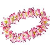 4er Set Hawaiiketten Hula Motto Feier-Deko Blumen-Kette Beach-Party Karneval