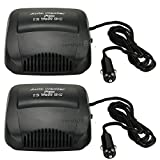 USA Premium Store 2x12V Car Vehicle Portable Ceramic Heater Heating Cooling Fan Defroster Demister