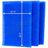 MicroPower Guard Replacement Filter Pads 19x21 Refills (3 Pack) BLUE