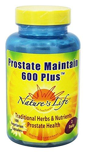Nature s Life – Prostate 600 Plus – 100 Vegetarian Capsules