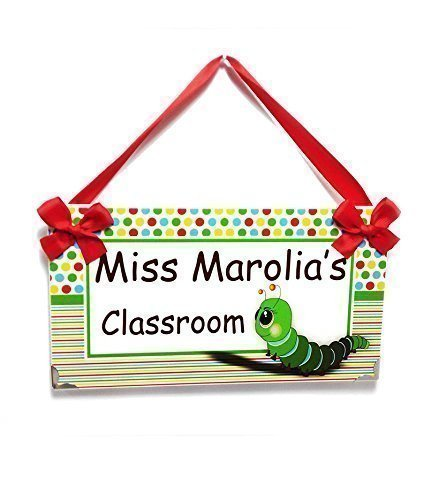 Teacher Personalized Gift Cute Caterpillar with Small Dots and -