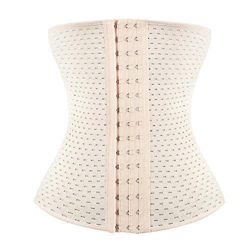 faf66cb550 KSKshape Waist Trainer Corset for Weight Loss Breathable Shapewear Back  Support Girdle  Amazon.co.uk  Clothing