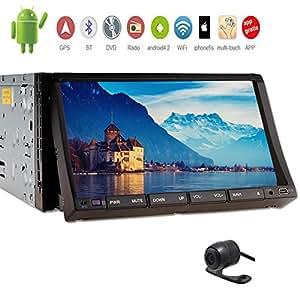 C¨¢mara trasera Incluye Eincar 7 pulgadas en el tablero de coches Stereo Audio GPS Soporte Internet Wifi Android Bluetooth 4.2 Doble 2 din coche DVD Video Player Auto Radio