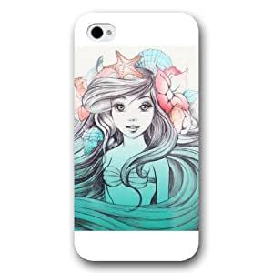 DiyPhoneDiy Disney Series Case for For Htc M7 Cover , The Little Mermaid For Htc M7 Cover