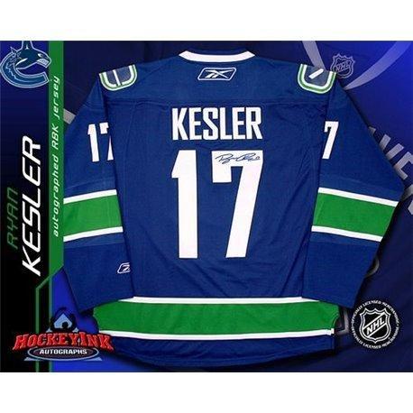 Reebok Blue Autographed Authentic Jersey (Ryan Kesler Signed Jersey - Blue Reebok Premier - Autographed NHL Jerseys)