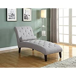 Home Life Fur_c10006_Grey_04_FBA Linen Chaise Lounger, Light Grey