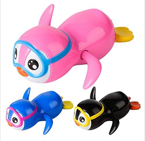 Ranvi Wind up Pinguin Badespielzeug, 3 Stü ck, 3 Farben (blau, pink, schwarz)