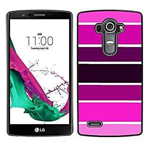 For LG G4 , S-type® Sample Pink Purple Tones Fuchsia - Arte & diseño plástico duro Fundas Cover Cubre Hard Case Cover