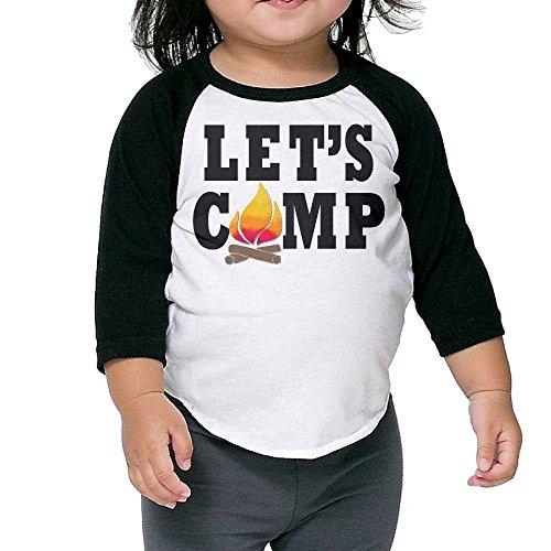 SH-rong Let's Camp Campfire Kids Baseball T-shirt Size3 Toddler