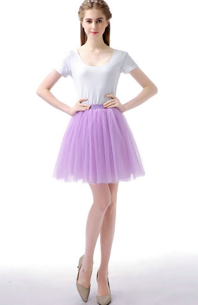 Sheicon Women Lace Ballet Tutu Princess Dress Dance Skirt for Adult Color Purple Size OneSize