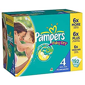 Pampers Baby Dry sz 4, 192 ct (Old Version)