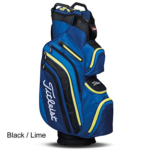 New Titleist Deluxe Cart Bag - Choose Your Color (Blue / Lime) - Titleist 14 Way Cart Bag