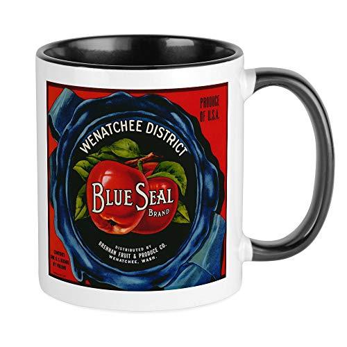 - CafePress Vintage Fruit Vegetable Crate Label Mugs Unique Coffee Mug, Coffee Cup