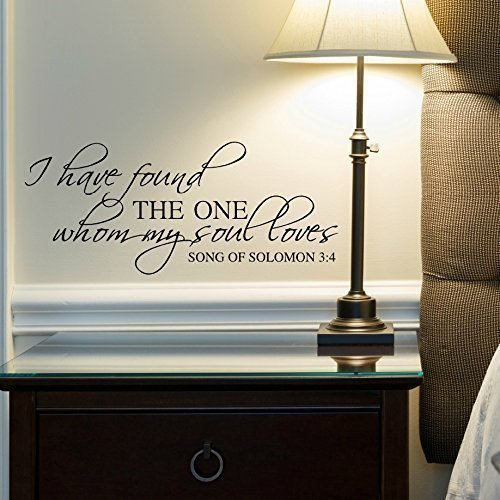 Song of Solomon 3:4 Vinyl Wall Decal, 24