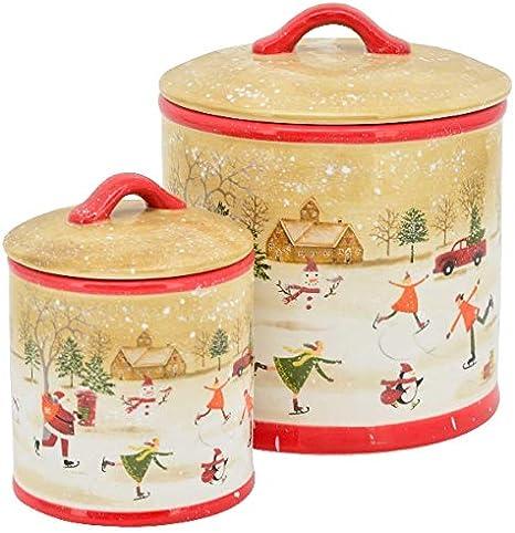 XXL Bote para Galletas (Galletas Bote Almacenamiento Navidad Mesa ...