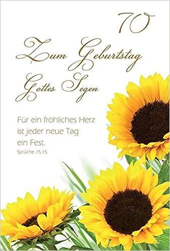 Faltkartezum Geburtstag Gottes Segen 70 Sonnenblumen 5