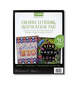 Crayola Chalkboard Hand Lettering Tutorials and Worksheets for Beginners, Easy Calligraphy Alternative, 40 Pages