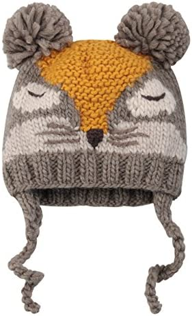 Sumolux Baby Toddler Earflap Beanies Hat Knitted Animal Ears Lined Cap Winter