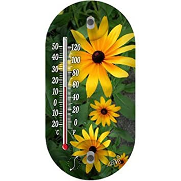 Amazon Springfield 91565 Flowers Tube Thermometer Yellow