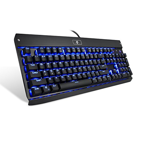 EagleTec KG010 Gaming / Industrial / Office Mechanical - Wireless Gaming Keyboard Blue