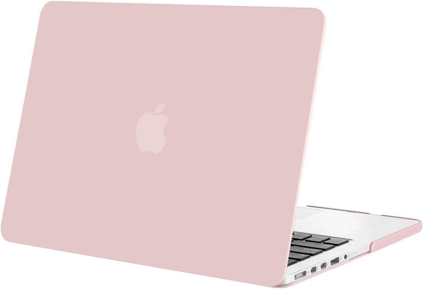 MOSISO Plastic Hard Shell Case Cover Only Compatible with Older Version MacBook Pro Retina 13 Inch (Models: A1502 & A1425) (Release 2015 - end 2012), Rose Quartz