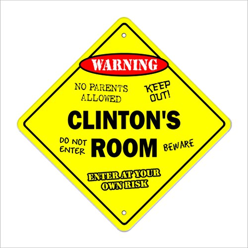 Clinton's Room Sign Crossing Zone Xing | Indoor/Outdoor | 20