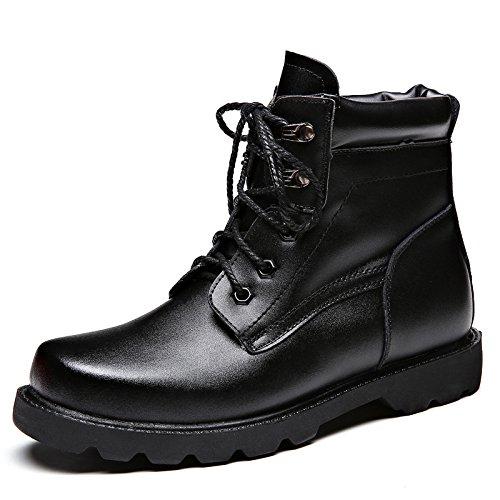 WZG Neue männliche Stiefel plus Samt warme Outdoor-Schuhe Werkzeug Schuhe Martin-Aufladungen Winter Schneeschuhe 46 , black , 42