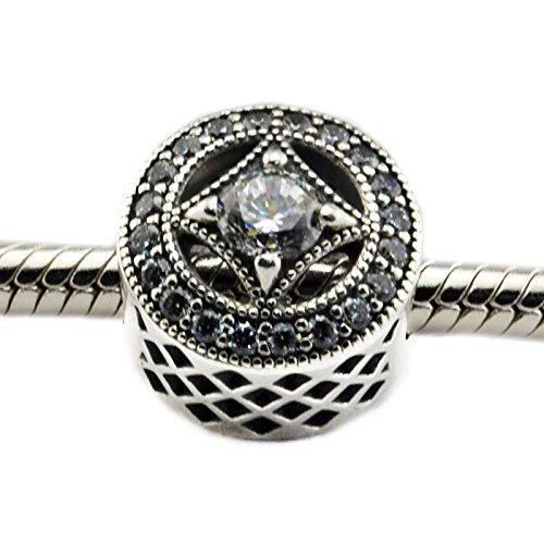 - Vintage Allure Openwork Beads with Clear CZ 2016 Autumn Jewelry Original 925 Sterling Silver Charms Beads Fits Pan Bracelets