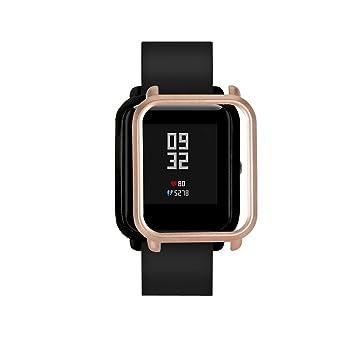 cooljun para Xiaomi huami amazfit bip jóvenes reloj resistente colorido PC Carcasa proteger Carcasa, dorado: Amazon.es: Deportes y aire libre