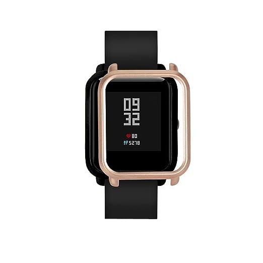 QuickZ Protector para xiaomi huami amazfit bip Youth,PC Caso Cubierta Funda de Protección para xiaomi huami amazfit bip smartwatch Reloj Fundas Protector de ...
