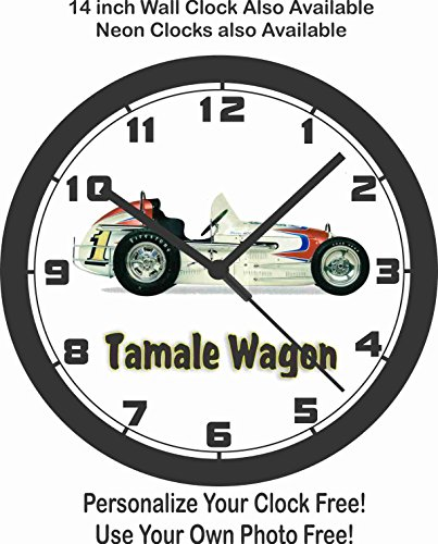 ALEX FOODS TAMALE WAGON SPRINT CAR WALL CLOCK-FREE for sale  Delivered anywhere in Canada