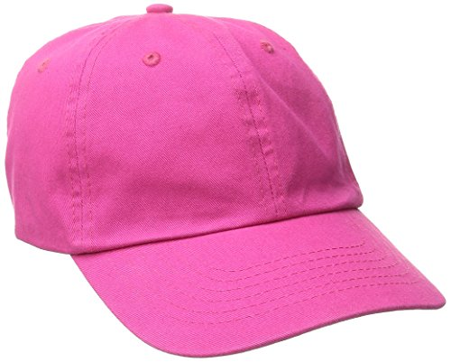 Dorfman Pacific Women's Washed Twill Cap with Precurve, Fuchsia, One Size (Baseball Slides)