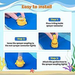 Obuby Sprinkle & Splash Play Mat, Sprinkler for Kids,Upgraded 68' Summer Outdoor Water Toys Wading Pool Splash