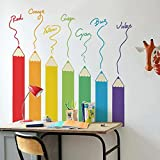 Decals Design 'Colourful Colour Pencil Design' Wall Sticker (PVC Vinyl, 60 cm x 90 cm),Multicolour