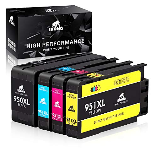 IKONG 950XL 951XL Compatible Ink Cartridge Replacement for HP 950 951 Ink Cartridge Works with OfficeJet Pro 8600 8610 8620 8100 8630 8660 8640 8615 8625 276DW 251DW 271DW