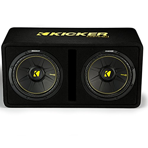 1200 Watt 2 Ohm Vented Loaded Subwoofer Enclosure, 44DCWC122,Black,31.88 x 13.2 x 17.25 x 16 inches ()